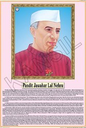 Pt. Jawaharlal Nehru  For Life Sketch Of Great Men Chart