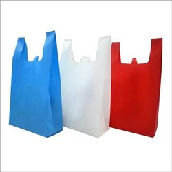 W Cut Non Woven Carry Bag, Capacity: 500 gm-10 Kg