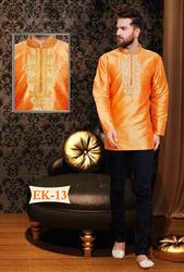 Orange Indian Party wear Kurtis