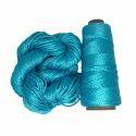 Plain Blue Mulberry Silk Yarn, For Knitting, Weaving