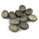 Pave CZ Stone Setting Oval Shape Beads 14x10mm