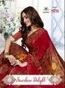 Border Party Wear Vipul Sunshine Delight Cat 408 Georgette Printed Beautiful Saree