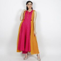 Womens Georgette Kurti With Jacket
