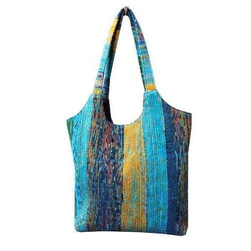 5e6c39e29 Lucky Handicraft Multicolors Printed Indian Handmade Cotton Rug Bags ...