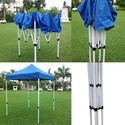 Quick Foldable Gazebo Tent - 7'x7' - Blue