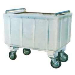 Four-Wheel Plastic Washroom Trolley