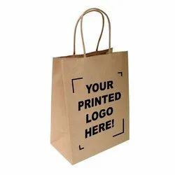 Brown Loop Handle Kraft Paper Shopping Bags, Capacity: 1-5 kg