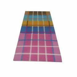 Rajat Overseas Check Floor Rug, Size: 4 X 6 Feet, Packaging Type: Packet