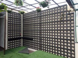 PVC Planters and MS Frame Wall Only for Vertical Garden
