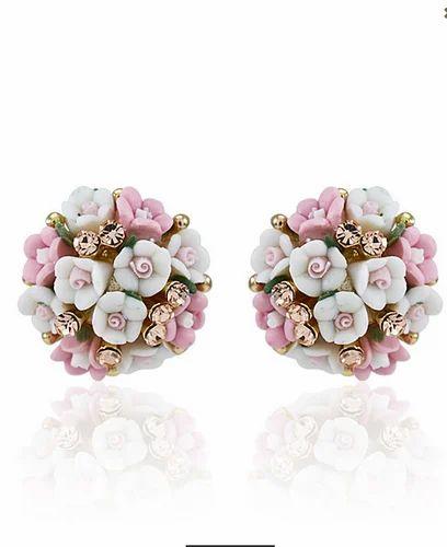 Pearl Flower Ear Studs