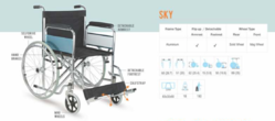 Arrex SKY Heavy Duty Manual Wheelchair
