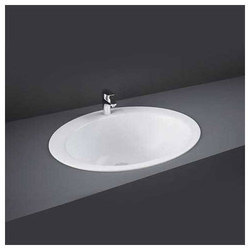 White Ceramic Inset Counter Top Basin