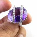 Amethyst Diamond 14k Gold Ring