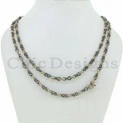 Round Designer Link Chain Necklace