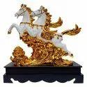 Double Horse Statue