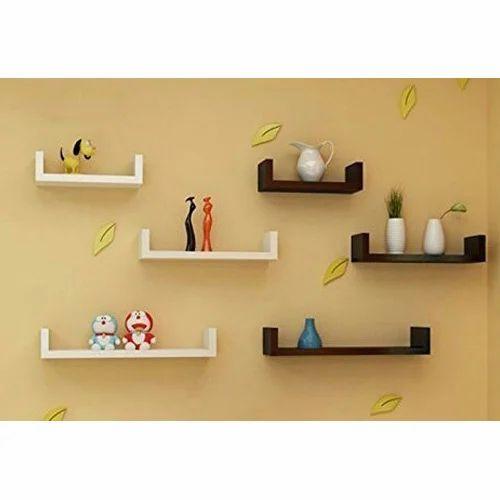 U Shape Wall Shelves, Deewar Par Lagi Almaariyan, Floating Shelves ...