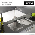 Stainless Steel Lucent Kitchen Sink, Shape: Rectangular, Packaging Type: Box