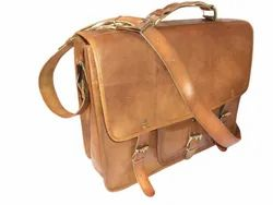 Rustic Leather Briefcase Shoulder Bag