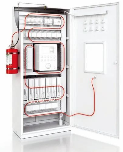 Red Mild Steel Fire Suppression System for Electrical Control Cabinet