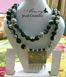 Silver, Black Adjustable Oxidized Jewellery