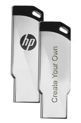 HP Metal Personalized Pen Drive with 2 Year Warranty