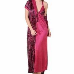 Printed Satin Ladies Nightwear Set