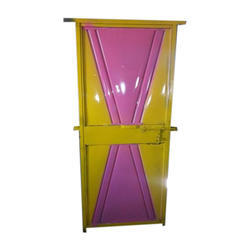 Rectangular Color Coating Color Coated Mild Steel Toilet Door, For Residential And Commercial