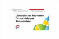 L-Carnitine Fumarate Ubiderecarenone Zinc ascorbate Lycopene & Astaxanthin  tablets