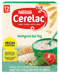 Nestle Cerelac Fortified Baby Cereal With Milk Multi Grain Dal