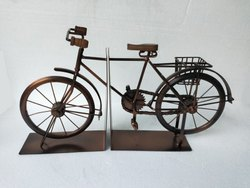 Iron Bicycle Book End Miniature Bike Decor