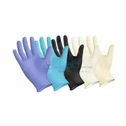 Blue Nylon Laboratory Gloves for Hospital, Packaging: Packed In Box