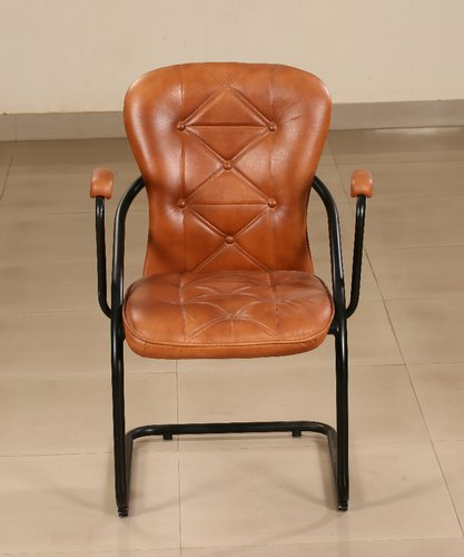 Brown Iron & Leather Dinning chair