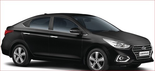 Black Hyundai Verna Car