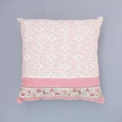 Pink Jaal Cotton Cushion Cover
