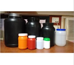 Plastic PET Screw Protein Plastic Jars & Bottles, Pack Type: Round Black & More
