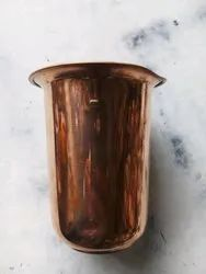 Cylindrical Plain Copper Glass, For Home