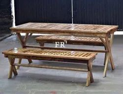 Home Vintage Furniture - Diner Dining Bench in Reclaimed Wood for Restaurants