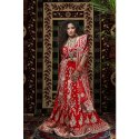 She015 Red Bridal Silk Lehenga Choli