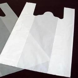 W Cut White Non Woven Carry Bags, Capacity: 5 Kg, Thickness: 45 Gsm