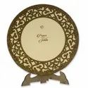 Brown Wooden Wedding Card With Photo Frame