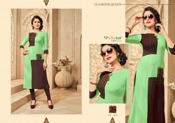 Vilohit Enterprise Radha Vol-3 Series 3001-3007 Stylish Party Wear Rayon Kurti