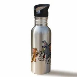Printed Stainless Steel Sipper Bottle- 600ml