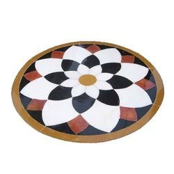 Multicolor Gloss Marble Flower Flooring, Thickness: 5-10 mm