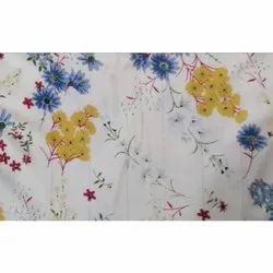 45-58 Inch Printed Voile Fabric, for Garments, Packaging Type: Roll