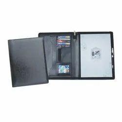 Black A4 Flexible Leatherette File Folder,  Packaging Type: Box