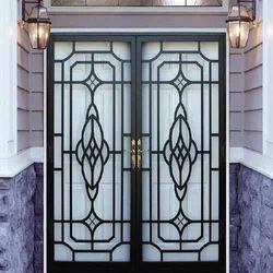 Wood Black Designer MS Safety Door