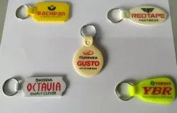 Abs Plastic Double Side Laminated Key Chains
