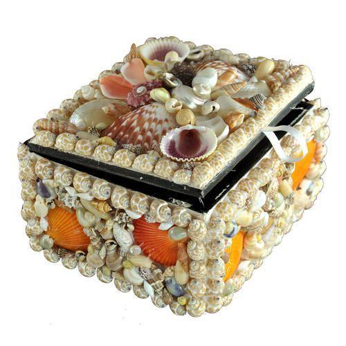 Multicolor Seashell Jewelry Box Rs 350 piece Shine Shell Craft