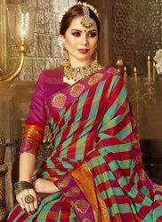 f30f70abac7046 Cotton Silk Festival Wear Fancy Saree, With Blouse