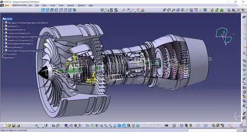 Turbine d'avion réalisé sous catia meilleur logiciel CAO